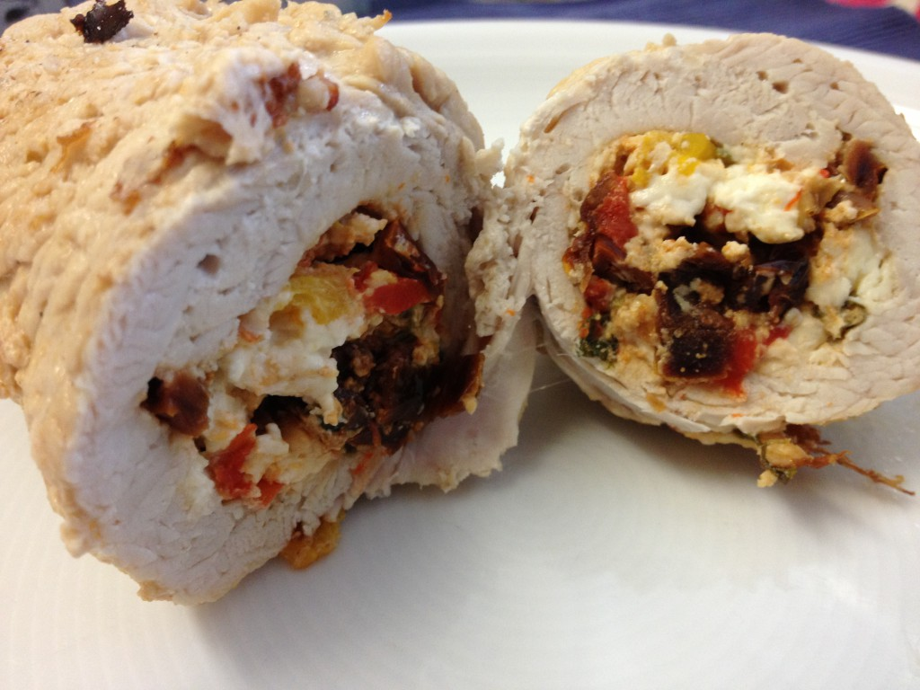 Greek-inspired turkey roulades